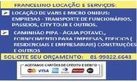 Logo de FRANCELINO LOC VANS MICRO ONIBUS ,CAMINHÃO PIPA CAMINHÃO REBOQUE  em Santo Amaro