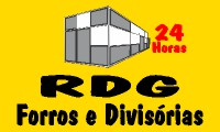 Logo RDG Forros e Divisórias 24 Horas