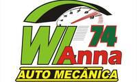 Logo de WLanna Mecânica Automotiva em Água Verde