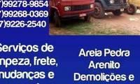Logo dj prestadora e serviços e limpezas de terrenos em Nova Lima