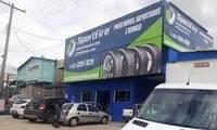 Logo SportFire Pneus - Distribuidora de Pneus Novos / Originais e Fabrica de Pneus Remold em Jardim Transbrasiliano