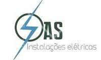 Logo A.S instalações elétricas em Santa Cruz