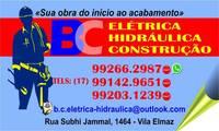 Logo Bc Elétrica Hidráulica E Construção em Vila Elmaz