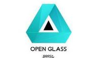 Logo Vidraçaria Open Glass Brasil