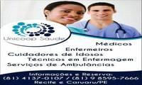 Logo de Unicoop Saúde Cuidadores de Idosos Técnicos em Enfermagem Enfermeiros Médicos Ambulâncias