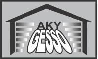 Logo Aky Gesso em São Cristóvão