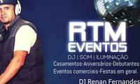 Logo Rtm Eventos Dj Som Iluminação em Vila Roque