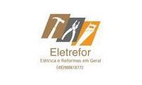 Logo Eletrefor Construções e Reformas em Praia de Fora